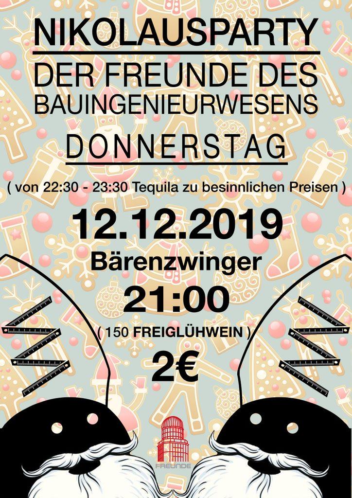 Nikolausparty 2019 Plakat